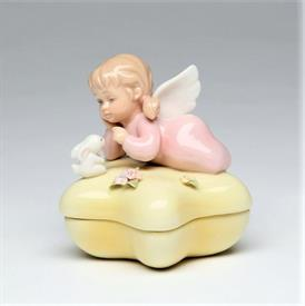 "-GIRL ANGEL ON STAR BOX. 2.8"" WIDE, 2.8"" TALL"