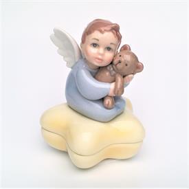 """-BOY ANGEL ON STAR BOX. 2.8"""" LONG, 2.8"""" TALL"""