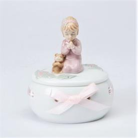 "-GIRL PRAYING BOX. 2.75"" LONG, 2.25"" WIDE, 3.4"" TALL"
