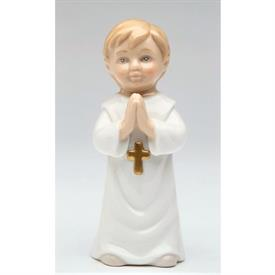 "-BOY WITH DEVOTION FIGURINE. 1.5"" WIDE, 4"" TALL"