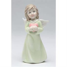 "-ANGEL OF LOVE FIGURINE. 2"" WIDE, 4"" TALL"