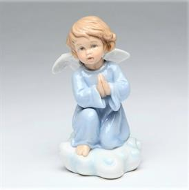"-ANGEL PRAYING ON CLOUDS FIGURINE. 2.4"" WIDE, 4.25"" TALL"