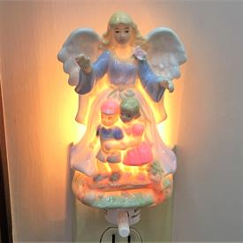 "-GUARDIAN ANGEL WALL NIGHT LIGHT. 3.5"" WIDE, 6"" TALL"