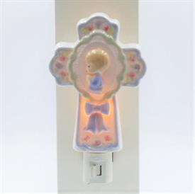 "-BOY'S CROSS WALL NIGHT LIGHT. 3.5"" WIDE, 4.6"" TALL"