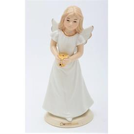 "-FIRST COMMUNION ANGEL FIGURINE. 2.25"" WIDE, 5.6"" TALL"