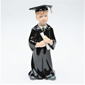 "-BOY GRADUATE FIGURINE. 2"" WIDE, 4.6"" TALL"