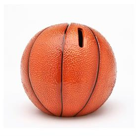 "-BASKETBALL BANK. 4.75"" WIDE, 4.25"" TALL"