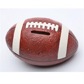 "-FOOTBALL BANK. 5.8"" LONG, 3.75"" WIDE, 3.5"" TALL"
