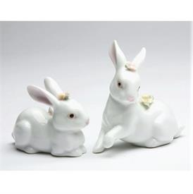 "-PAIR OF BUNNY FIGURINES. SITTING 3""LONG, 1.4"" WIDE, 3.2"" TALL. STANDING 3"" LONG, 1.4"" WIDE, 2.2"" TALL"