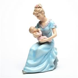 "-MOTHER WITH BABY GIRL FIGURINE. 5.2"" LONG, 3.5"" WIDE, 7.25"" TALL"