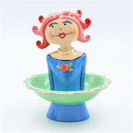"-,VANITY GIRL 'RUBY' JEWELRY DISH. 6"" WIDE, 7.5"" TALL"