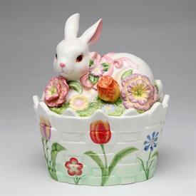 """-,BUNNY CANDY BOX. 6"""" TALL, 4.75"""" WIDE, 6.6"""" LONG"""