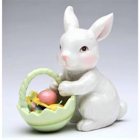 """-BUNNY WITH EASTER BASKET. 3.5"""" LONG, 1.8"""" WIDE, 3.75"""" TALL"""