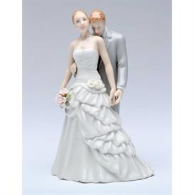 "-,GROOM KISSING BRIDE FIGURINE. 3.75"" LONG, 3"" WIDE, 5.75"" TALL"