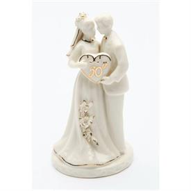 "-50TH ANNIVERSARY COUPLE FIGURINE. 2.5"" WIDE, 4.75"" TALL"