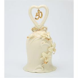 "_50TH ANNIVERSARY IVORY ORCHID BELL. 2.75"" WIDE, 5"" TALL"