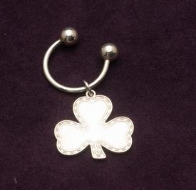 "WATERFORD CLOVER STERLING SILVER KEY CHAIN 2.75"" WHEN FULLY EXTENDED"