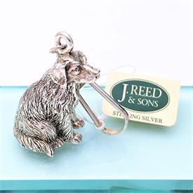 ",J.REED STERLING SILVER GOLDEN RETRIEVER KEY CHAIN. 1.5"" TALL #KA545"