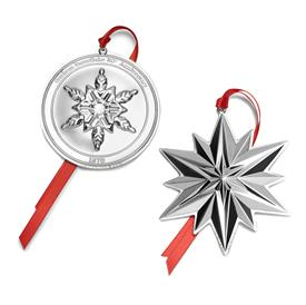 -,50TH ED 2-Piece Snowflake by Gorham 50th Anniversary 2pc Sterling Silver Collectors Set includes: 2019 Snowflake and 2019 Commemorative Me