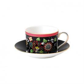 -ORIENTAL JEWEL TEA CUP & SAUCER SET