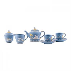 -LADY TEMPLETOWN PALE BLUE TEA SET
