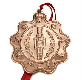 """_1ST EDITION COPPER CLASSIC TOY ORNAMENT, 2019 NUTCRACKER. 3.5"""" W x 4"""" H   UPC#730936072917 MSRP $112.50  MARKED DOWN 12-3-19"""