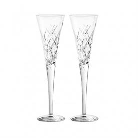 -PAIR OF CLEAR TOASTING FLUTES