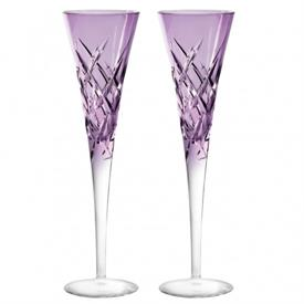 -PAIR OF LAVENDER TOASTING FLUTES