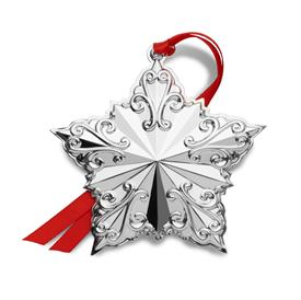 "-,2019 Star Annual Ornament Sterling Silver made by Towle in USA 3.5""W x 3.5""H 23rd Edition UPC#044228045306 MSRP $225.00"