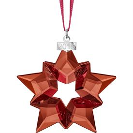 "-,2019 RED SNOWFLAKE ORNAMENT. 2.75"" WIDE"