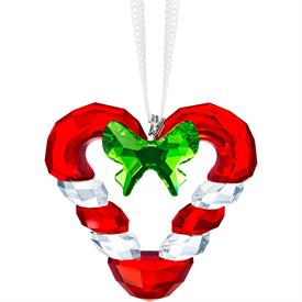 "-,CANDY CANE HEART ORNAMENT. 1.5"" WIDE"