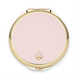 "-,BLUSH COMPACT MIRROR. 3.12"" WIDE, .25"" THICK. GOLD PLATE & EPOXY COLOR. BREAKAGE REPLACEMENT AVAILABLE."