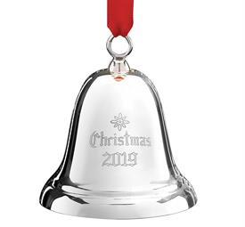 "-X/800E ""CHRISTMAS 2019"" Dated Bell Sterling Silver Christmas Bell 35th Annual by Reed & Barton in USA 2.75"" H MSRP $150 UPC#887604 engraved"