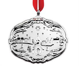 "-Francis 1 Songs of Christmas 17th Edition Sterling Silver Ornament made by Reed & Barton in USA in year 2019 2.75"" H (O Holy Night)"