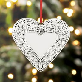 "_1st Ed. 'Best of the Season' Heart Sterling Silver Christmas Ornament made by Reed & Barton in USA 3.5"" Height MRSP $150 UPC#877599"