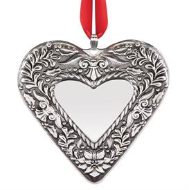 "_Annual Heart 2nd Edition Sterling Silver Christmas Ornament made by Reed & Barton in USA 3.5"" Height MSRP $150 UPC#886179"