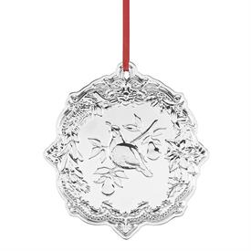 """_Partridge in a Pear Tree Sterling Silver Christmas Ornament made by Reed & Barton in USA 3.75"""" Height MSRP $150 UPC#878117 MARKDOWN 12-3-19"""