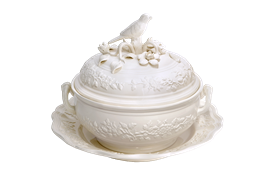 "-14"" BIRD TUREEN AND STAND"