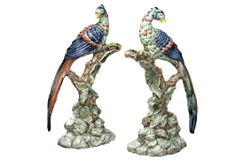 """-PAIR OF BRIGHTON PAVILION BIRDS, 16.5"""""""
