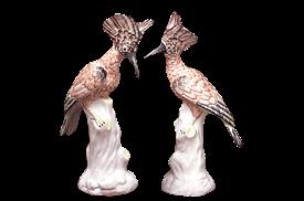 """-PAIR OF EXOTIC BIRDS. 12.75"""""""