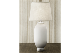 -LOZENGE LAMP IN WHITE & GRAY, 32""