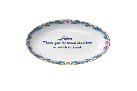 """-'FATHER, THANK YOU FOR BROAD SHOULDERS ON WHICH TO STAND' TRAY. 8"""""""