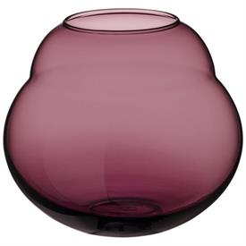 -MAUVE LARGE VASE/HURRICANE LAMP, 7.5""