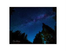 -WASHINGTON STATE STARRY NIGHT 8X10 WITH 11X14 BLACK MAT