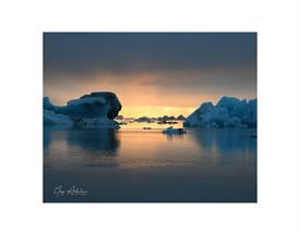 -ICELAND SUNSET 8X10 ON A 11X14 BLACK MAT