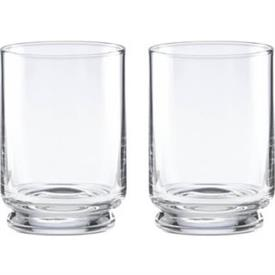 -CLEAR PAIR OF DOUBLE OLD FASHIONED GLASSES