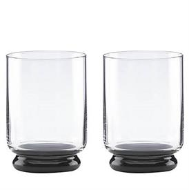 -SMOKE PAIR OF DOUBLE OLD FASHIONED GLASSES