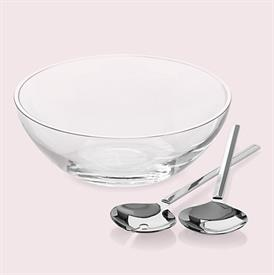 "-10.5"" GLASS SALAD BOWL & SERVER SET"
