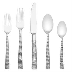 -20-PIECE SET. INCLUDES FOUR 5-PIECE PLACE SETTINGS. STAINLESS STEEL. BREAKAGE REPLACEMENT AVAILABLE.