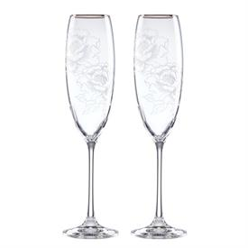 -,PAIR OF TOASTING FLUTES. MSRP $67.00